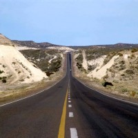 Detalle de ruta en automovil